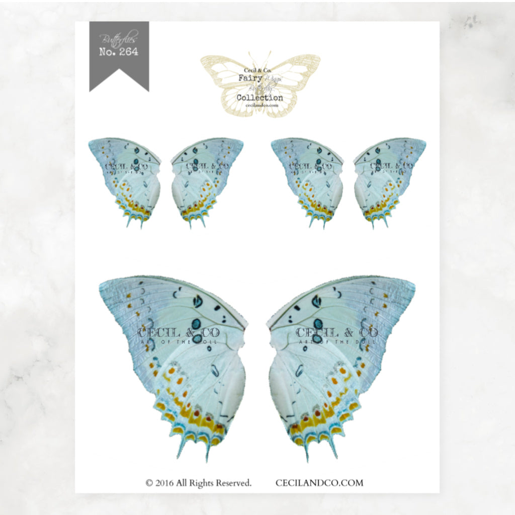 Digital Butterfly Fairy Wings Collection No. 264