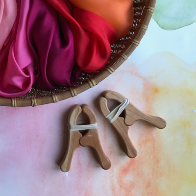 Wooden Play Clips by Sarah's Silks