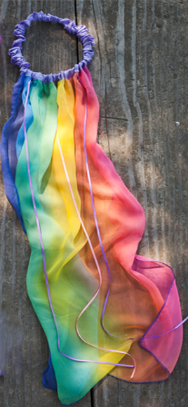 Rainbow Veil by Sarah's Silks