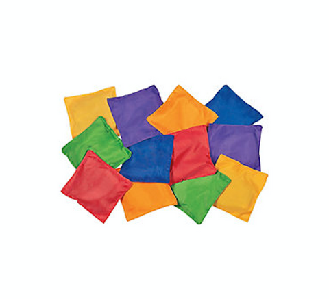 Coloured Bean Bags (Set of 6)