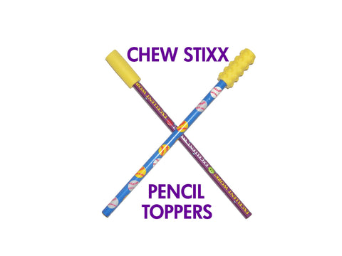 Chew Stixx Pencil Topper (Pack of 2)