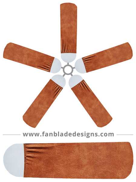 Fan Sox Leather Ceiling Fan Blade Covers Fan Blade Designs