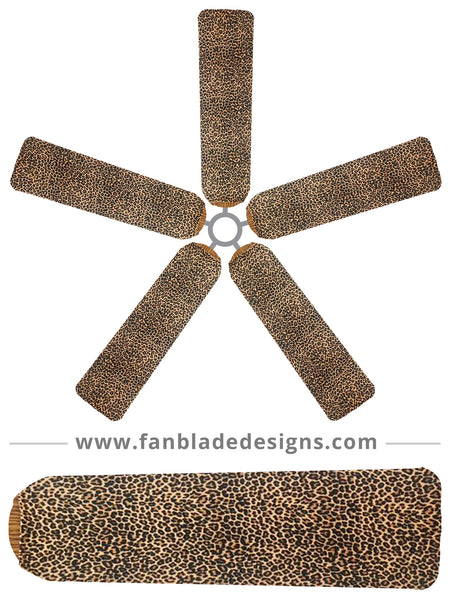 Fan Blade Designs fan blade covers - Baby Leopard