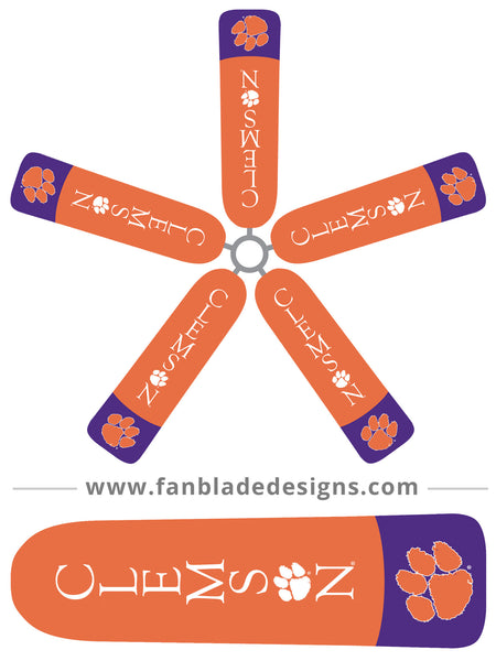 Fan Blade Designs fan blade covers - Clemson University