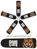 Fan Blade Designs fan blade covers - Idaho State University Bengals