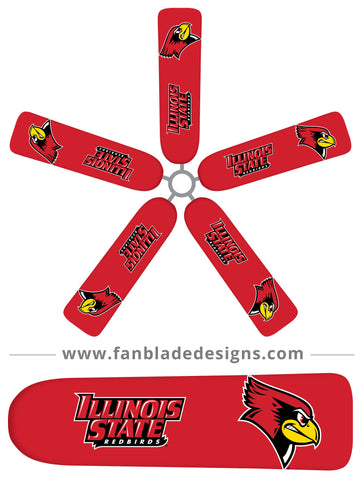 Fan Blade Designs fan blade covers - Illinois State University Red Birds