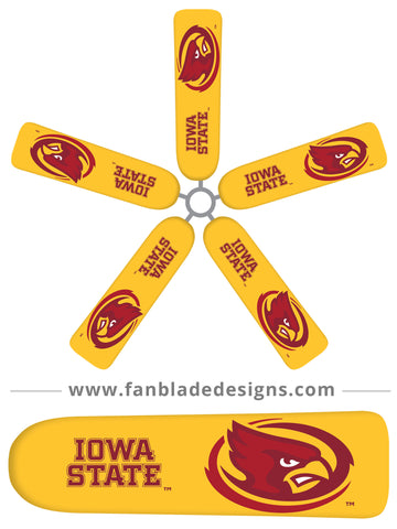 Fan Blade Designs fan blade covers - Iowa State University Cyclones