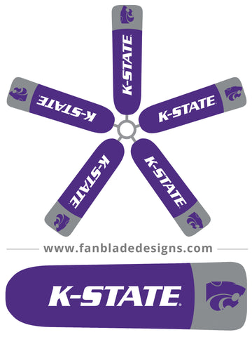 Fan Blade Designs fan blade covers - Kansas State University Wildcats