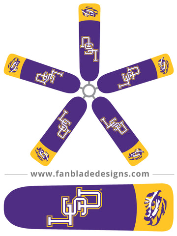 Fan Blade Designs fan blade covers - Louisiana State University Tigers
