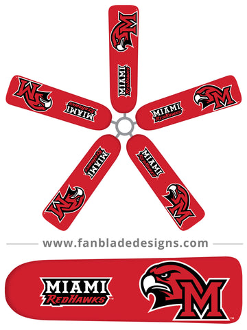 Fan Blade Designs fan blade covers - Miami University RedHawks