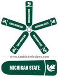 Fan Blade Designs fan blade covers - Michigan State University Spartans