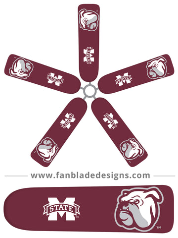 Fan Blade Designs fan blade covers - Mississippi State University Bulldogs