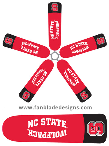Fan Blade Designs fan blade covers - North Carolina State University Wolfpack