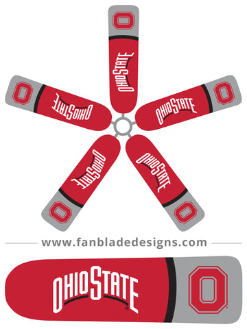 Fan Blade Designs fan blade covers - Ohio State Buckeyes