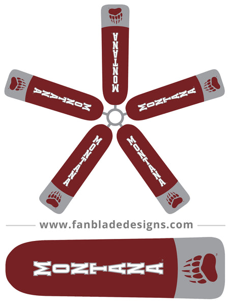 Fan Blade Designs fan blade covers - The University of Montana Grizzlies