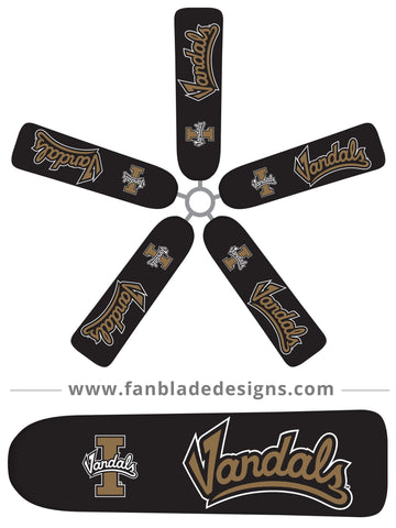 Fan Blade Designs fan blade covers - University of Idaho Vandals