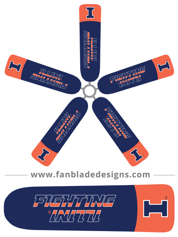 Fan Blade Designs fan blade covers - University of Illinois Fighting Illini