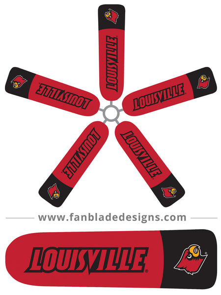 Fan Blade Designs fan blade covers - University of Louisville Cardinals