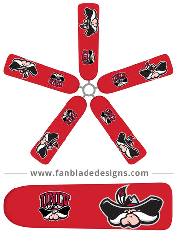 Fan Blade Designs fan blade covers - University of Nevada, Las Vegas, Running Rebels