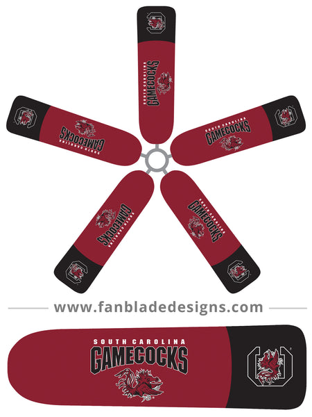 Fan Blade Designs fan blade covers - University of South Carolina Gamecocks