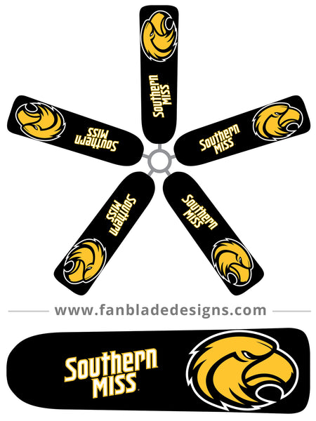 Fan Blade Designs fan blade covers - University of Southern Mississippi Golden Eagles