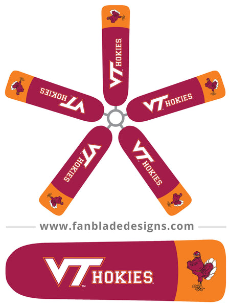 Fan Blade Designs fan blade covers - Virginia Tech Hokies