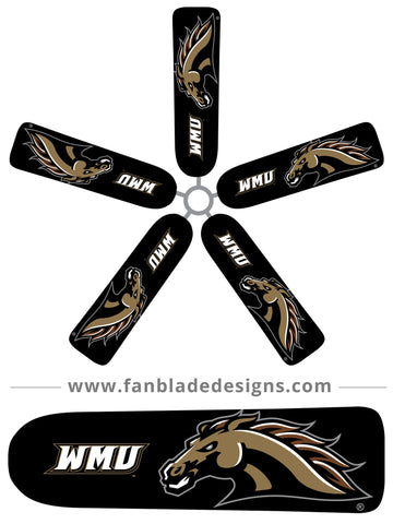 Fan Blade Designs fan blade covers - Western Michigan University Broncos