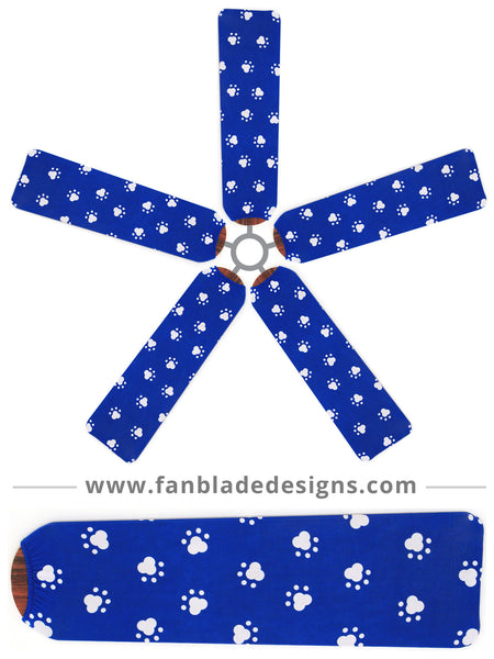 Fan Blade Designs fan blade covers - Paw Prints