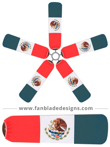 Fan Blade Designs fan blade covers - Mexico Flag