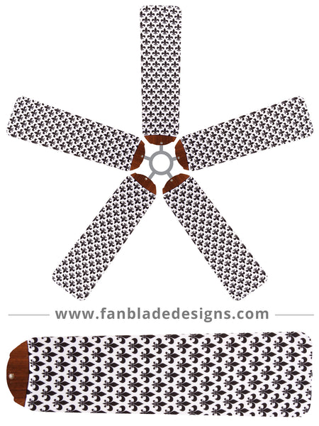 Fan Blade Designs fan blade covers - Fleur-de-Lis
