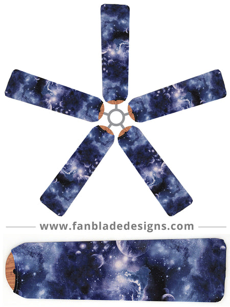 Buy moon stars ceiling fan covers fan blade designs for Outer space design richmond