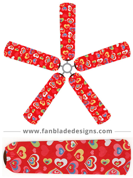 Fan Blade Designs fan blade covers - Hearts