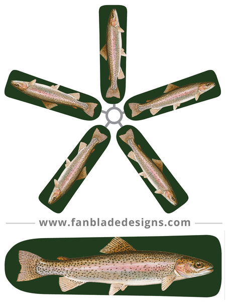 Fan Blade Designs fan blade covers - Rainbow Trout
