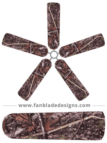 Fan Blade Designs fan blade covers - True Timber