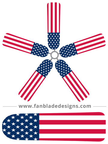 Fan Blade Designs fan blade covers - American Flag