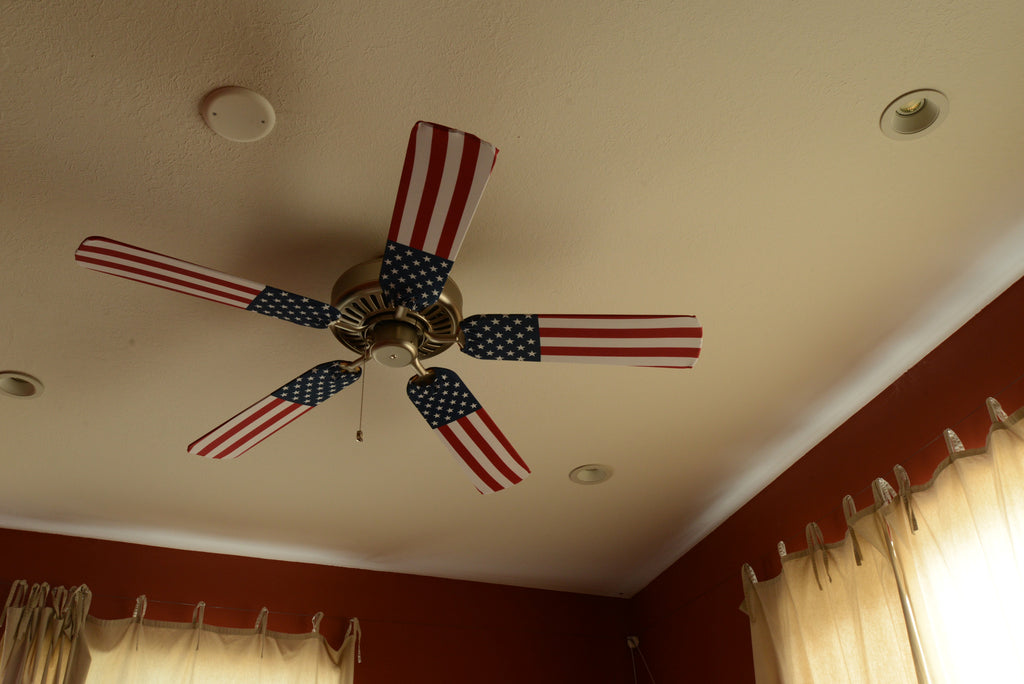 American flag ceiling fan covers fan blade designs fan blade designs american flag home image aloadofball Choice Image