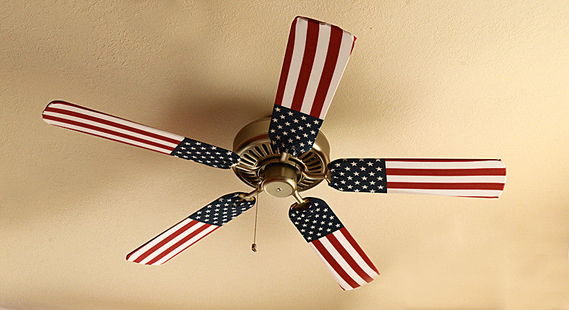 American flag ceiling fan covers fan blade designs fan blade designs american flag home shot mozeypictures Image collections
