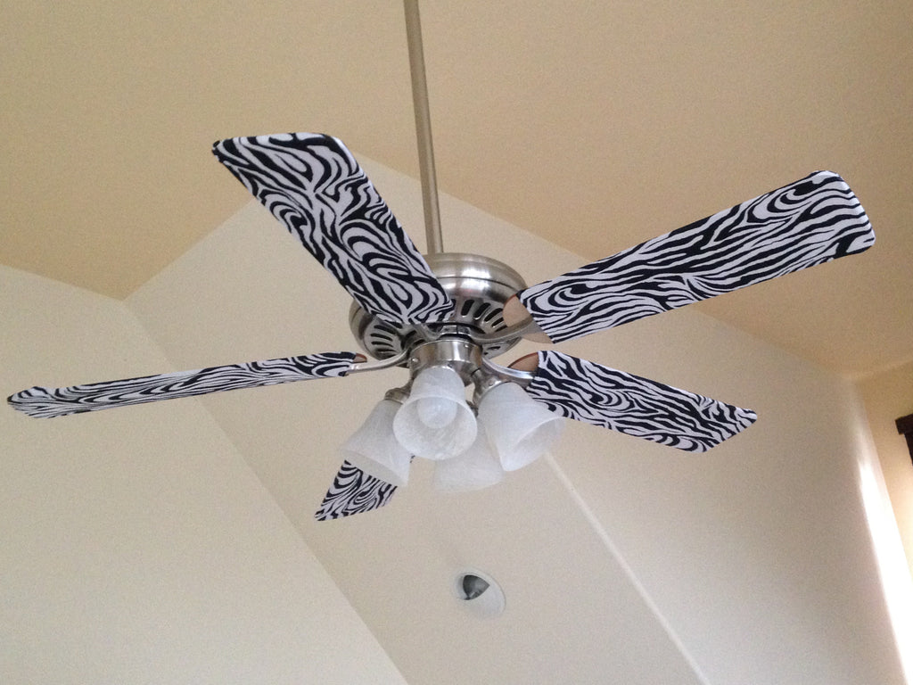 Fan blade designs zebra fan blade designs zebra print ceiling fan blade dust covers aloadofball Images