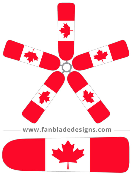 Fan Blade Designs fan blade covers - Canada Flag