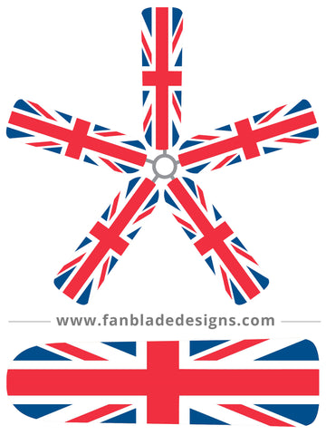 Fan Blade Designs fan blade covers - England's Union Jack Flag