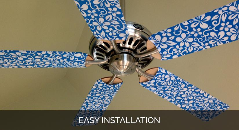 Ceiling Fan Blade Cover Designs Blue Hawaii