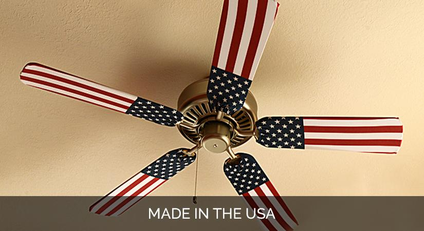 Ceiling Fan Blade Cover Designs United States Flag