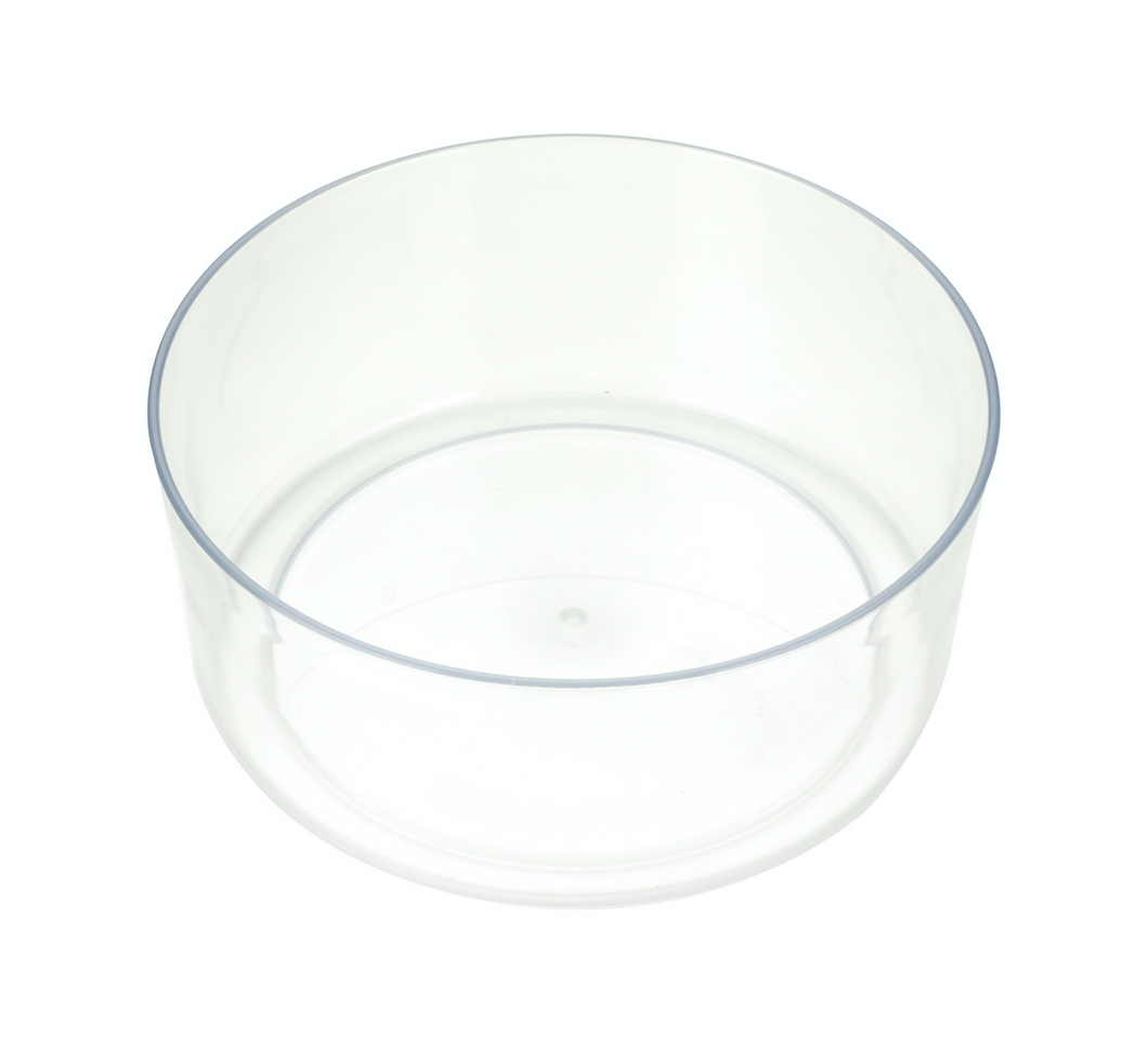 BOWL ONLY : Tritan PLASTIC : 1 GALLON :  Add A Food Bowl to Match Your Dripless Water Bowl