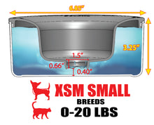 BOWL ONLY : Tritan PLASTIC : 1.25 QUARTS :  Add A Food Bowl to Match Your XSM Small Breeds Dripless Water Bowl