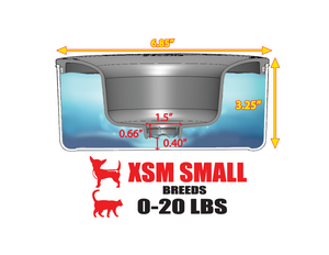 Tritan PLASTIC Bowl: XSM SMALL BREEDS Unit (Weight 0 - 20 Lbs) : Holds 1.25 Quarts