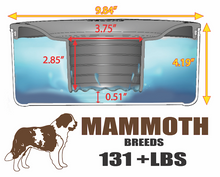 PLASTIC UNIT : MAMMOTH BREEDS Bowl/Lid (Weight 130 - 200+ Lbs) : Holds 1 Gallon