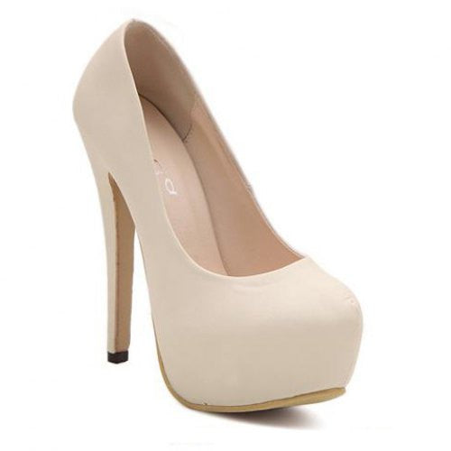 Sexy Stiletto and Round Toe Design Women's Pumps