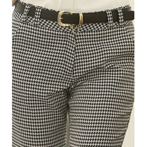 Stylish Houndstooth Slimming Straight-Leg Pants For Women