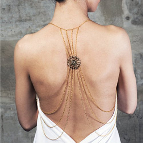 Characteristic Multi-Layered Tassels Pattern Simple Design Body Chain For Women