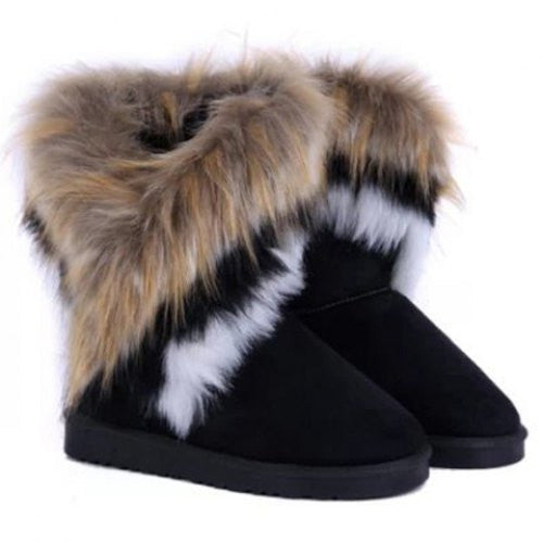 Simple Style Mid-Calf Design Women's Snow Boots